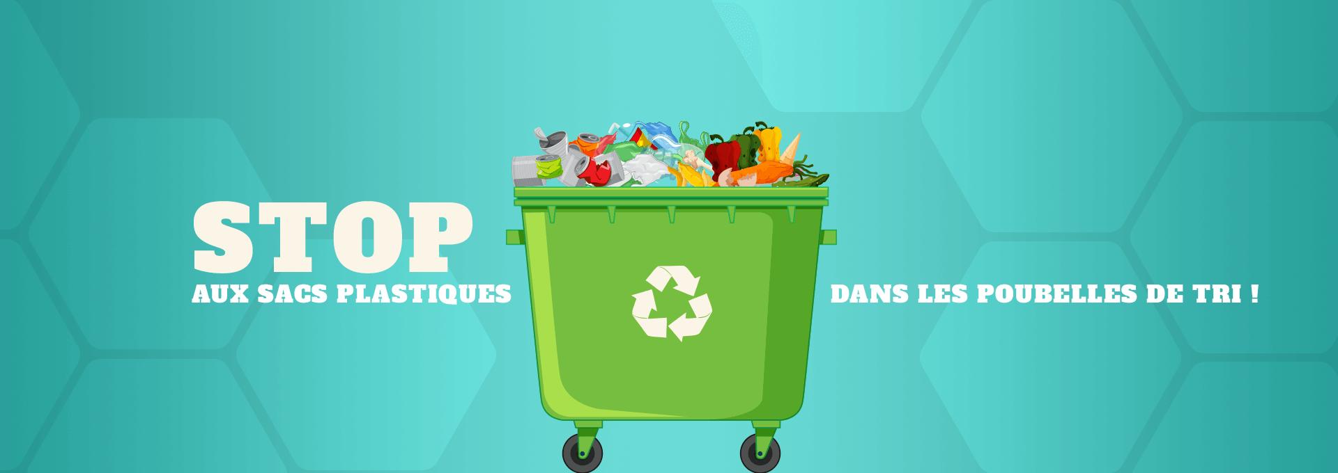 tri & déchets stop aux sacs plastiques poubelles de tri